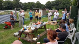 The event at the allotments was well attended