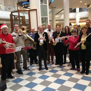 Richard's band played Christmas carols in the St Nicholas centre