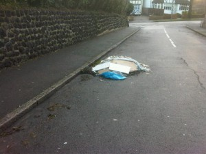 Fly tipping in Prior Avenue