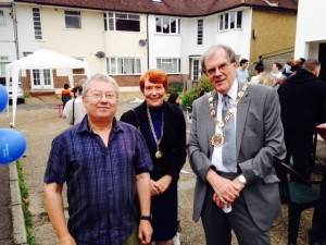 Gary, with the Mayoress and the Mayor