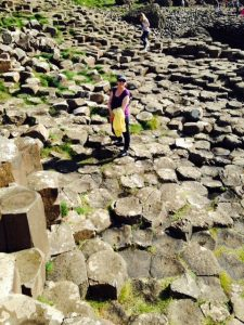 This is my daughter Jane on the Giant's Causeway in County Antrim, during our visit
