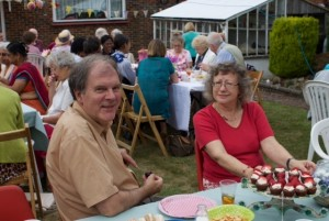 At the garden party