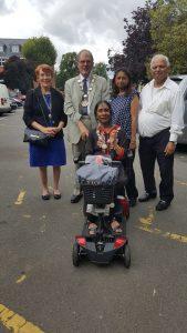 With the organisers, Kuku and Ramesh