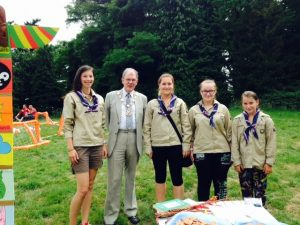 With the girl scouts from the Czech Republic