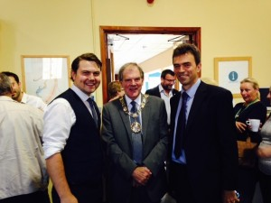 With Chris Parker, the CEO of the Sutton Volunteer Centre, and Tom BRake MP