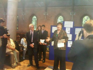 Heather introduces Care Minister Norman Lamb MP at the launch