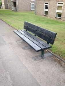 bench straightened