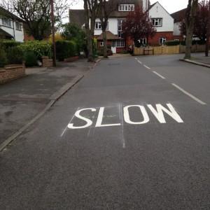 slow in road