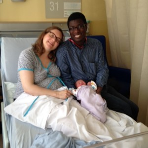 Richard became a grandparent for the first time on 22 June. Here is his daughter Jane and son-in-law Tet in St. Thomas's hospital after the birth