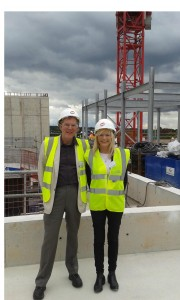 "Richard and Trish attended the ""topping out"" ceremony at the Subsea7 building in Brighton Road on 4 September"