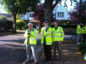 Richard at an earlier Speedwatch event in The Ridgway
