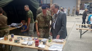 Richard visiting the army cente in Stonecot Hill on Armed Services Day