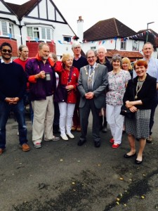 On 12 June Richard, as Mayor attended many local street parties