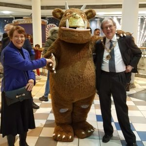 The Mayor and Mayoress turned on the lights in St Nics on 17 November, with the Gruffalo