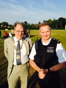 Richard with Chief Superintendent Stringer