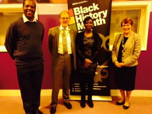 Richard and Gloria at the Black History Month Closing Event